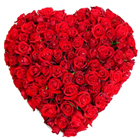 Attractive heart shape 150 Dutch Red Roses  to Trivandrum