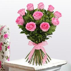 Powered by Pink Rose Bouquet to Chandigarh