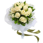 Sensational White Rose Bunch to Bangalore