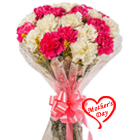 Exquisite Bouquet of White N Pink Carnations to Hyderabad