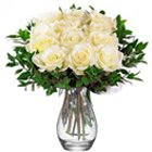 Unique Treasure White Roses in a Vase to Bangalore