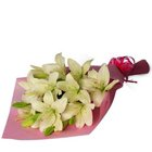 Pretty Treasured Bouquet of White Lilies to Bangalore