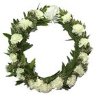 Seasonal Say Something Carnations Wreath to Bangalore