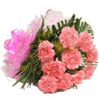 Stunning Pink Carnations Bouquet to Agra