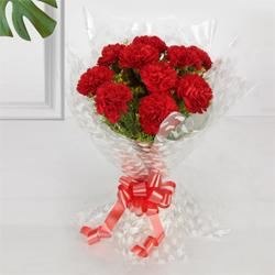 Fragrant Bouquet of Carnation of Red Colour to Noida