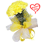Visually Pure Passion Bouquet of�Yellow Carnations to Alapuzha