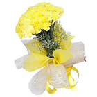Visually Pure Passion Bouquet of�Yellow Carnations to Chandigarh