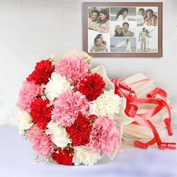 Magical Bunch of Carnations in Mixed Colour to Thane