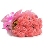 Luxurious Presentation of Carnations in Pink Colour to Agra