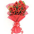 Eye-Catching Bunch of Gerberas in Beautiful Red Colour to Amravati
