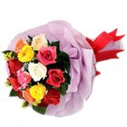 Pure Miracle Mixed Roses Bouquet to Bellary