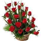 Royal Enchantment Dutch Roses Basket to Jalandhar