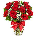 Blooming Love Bouquet of Dutch Red Roses to Yamunanagar