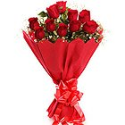 Perfect Romantic Red Roses Bouquet to Varanasi