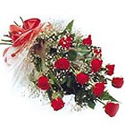 Romantic One Dozen Red Roses Bouquet to Baraut