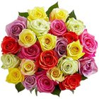Artistic Bundle of Mixed Roses to Aligarh