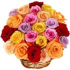 Charming Celebration of Love Mixed Roses Arrangement to Agartala