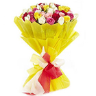 Impressive Colour Me 24 Mixed Roses Bouquet to Amalampuram