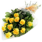 Dramatic Love in My Heart Yellow Roses Bouquet to Udaipur