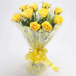 Passionate Nostalgic Memories Bunch of Yellow Roses to India