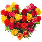 Magical Hearty 30 Mixed Roses for Special Celebration to Bellary
