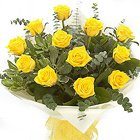 Rich Ready for Romance Bouquet of One Dozen Yellow Roses to Trivandrum