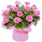 Exceptional and Exotic Bouquet of Pink Roses to Bhatinda