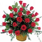 Breathtaking Assortment of Red Roses in a Basket to Thane