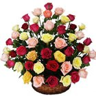 Sweet Arrangement of Various Coloured Roses to Kodad