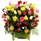 Lovely Basket of Roses in Mixed Colour to Warangal