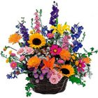 Charming Selection of Seasonal Flowers Accented with Greens to Kodad