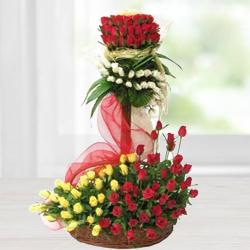 Outstanding Arrangement of Ravishing Roses to Ahmedabad