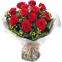 Elegant Red Rose Bouquet to Kumbakonam