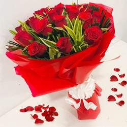 Stunning Bouquet of Red Roses to Akola