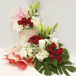 Wonderful Arrangement of Assorted Flowers to Aligarh