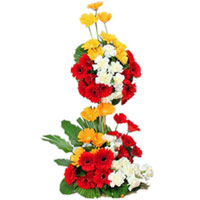 Delightful Long Arrangement of Assorted Gerberas 