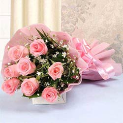 Beautiful Bouquet of Pink Color Roses