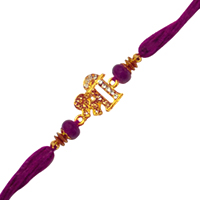 Auspicious Present of 1 Decorative Shree Rakhi to Nakoda