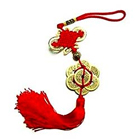 Feng Shui Fortune 8 Coins Red Tassel Hanging - Luck Gift to Bihar