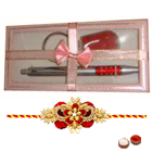 Gift Set of Pen with Key Ring and Rakhi to Cochin