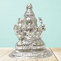 Silver Ganesh Idol to Indore