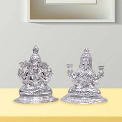 Silver Laxmi Ganesha to Hyderabad