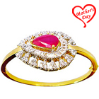 Designer Red Stone and Rhinestone Studded Fancy bangle to Ghaziabad