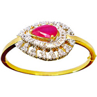 Designer Red Stone and Rhinestone Studded Fancy bangle from Anjali to Badgam