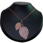 Stylish Heart-Shaped Gold-Plated Necklace with Tassel from Avon to Cochin