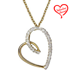 Passion Cherished Gold Heart Pendant with Chain to Sirsi