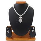 Mind Blowing Selection of White Pearl Necklace Set to Bhopal