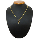 Extremely Beautiful Gold Plated Necklace with Twirling Lights Pendant to Bhopal