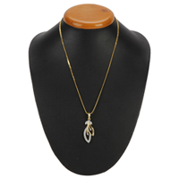 Elegant and Exotic Gold Plated Necklace with Tranquil Leaf Pendant to Almora