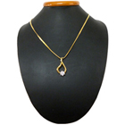 Simple Yet Sophisticated Gold Plated Necklace with Threaded Flower Pendant to Bangalore